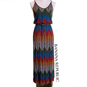 NWOT Banana Republic Tribal Chevron Maxi Dress